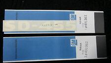PONTIAC NOS 455 SD (Super Duty) Hood Scop Decals (White) #491361-SET OF TWO