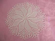 kleines rundes Deckchen gestrickt ca. 28 cm beige Mitteldecke Baumwolle