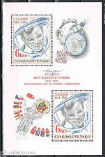 Tsjechoslowakije 1981 blok 43 1ste ruimtevlucht Gagarin Cat waarde € 4