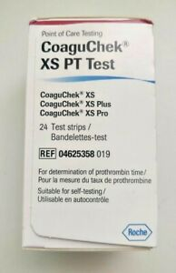Roche CoaguChek 24 XS PT/INR Test Strips Warfarin CoaguCheck BRAND NEW & SEALED
