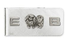 Pekingese Money Clip Handmade Sterling Silver Dog Jewelry Pk11-Mc
