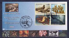 c/ ONU enveloppe espèce menacées d'extinction  animaux marins   2008   E