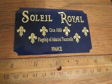 Soleil Royal Schiff Metall Display Plakette Heller Frankreich Mantua Holz Bausatz Aurora