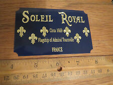 Soleil Royal Ship Metal Display Plaque Heller France Mantua Wood Kit Aurora