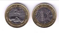 ARGENTINA  2 PESOS 2016  BIMETALICA  -  200 AÑOS INDEPENDENCIA