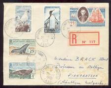 TAAF 1959 Yvert 16-18 R-BRIEF nach AFRIKA(L6687b