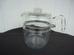vintage retro pyrex  glass coffee percolator pot  9 cup  kettle teapot