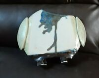 Pottery Ceramic Vase ART POTTERY TG Terrate Signed Original UNUSUAL
