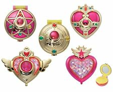 NEW Sailor Moon Makeover Transforming Compact Mirror All Five Sets Gashapon /B1