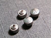 Lot Of 4 NOS Hamilton White Wrist Watch Crowns. Dustproof, 3mm, for watch repair