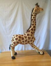 "Standing 32"" Giraffe  Metal Legs Plush Fiesta Stuffed Animal Room Decor"