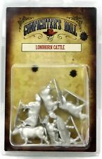 Knuckleduster KDM-16101 Longhorn Cattle (Set of 6) Old West Steers Animals NIB