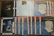 Huge Lot Of Of 250 Smead Folder Dividers 20 Ampad File Jackets 2 Acco Report