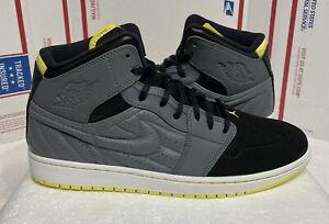 Nike Air Jordan 1 Retro High 99 Size 11.5 Grey Yellow Black 654140-032 OG