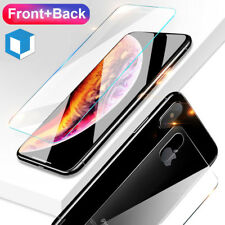 For Apple iPhone XS Max Front and Back 9H Tempered Glass Screen Protector Cover