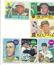 Signed 1969 Topps Jim Lonborg #109 Red Sox