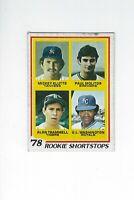 1978 Topps #707 Klutts/Molitor/Trammell/Washington RC Shortstops VGEX