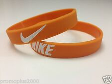 Nike Sport Baller Band Silicone Rubber Bracelet Wristband Orange/white