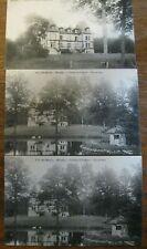 3 cartes postales anciennes : Presly -Chateau de Préfond - 2 vierges - 1 écrite