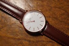 Super Rose Gold colour  QW  Watch on Padded Real Leather strap