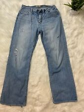 BKE Tyler Mens Blue Denim Zip Fly Jeans Size 32R (Actual 34 X 32)