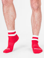 Barcode Berlin Chaussettes Joli Rouge/Blanc 91216/301 Gay Sexy Offre Soldes