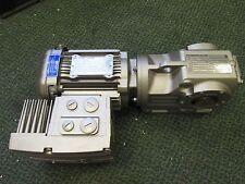 Sew-Eurodrive Gear Motor w/ Brake DRS71M4MM05 0.75HP 200-1700RPM Ratio 28.83