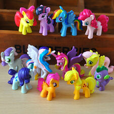 12Pcs/Set 5CM Lot My Little Pony Funny Cake Toppers Dolls Action Figures Toy