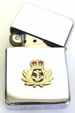 RN ROYAL NAVY CROWN AND ANCHOR BADGED  WINDPROOF CHROME PLATED LIGHTER