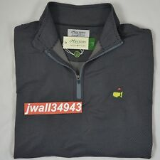 MASTERS 2018 Peter Millar Quarter 1/4 Zip Pullover Jacket Anthracite Mens SMALL