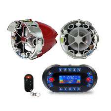 ATV UTV Anti~Theft Speakers USB Audio System Stereo Bluetooth Motor Remote