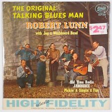 ROBERT LUNN: Talking Blues Man STARDAY ORIG DG vinyl lp JUG WASHBOARD BAND WOW!