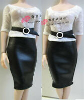 1/6 Female White Top Suit Skirt Clothes Set fit 12'' Phicen JO Figure Toy