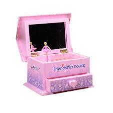 Ballerina Jewelry Box Little Girls Dancer Storage Musical Case Organizer Gifts