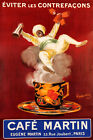 Cafe Martin Arabic Coffee Hot Cup French Cappiello Vintage Poster Repro FREE S/H