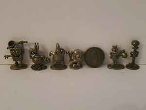 Monopoly -SpongeBob SquarePants Edition 100% Complete set of Pewter Tokens +coin