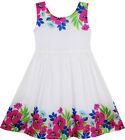 Sunny Fashion Girls Dress Flower Garden Print Elegant Chinese Style Size 2-6