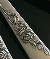 Jugendstil Speise Löffel Rosen Silber pl Sheffield antik edel selten wunderschön