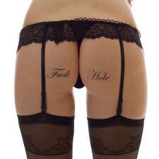 "5 x ""Fuck Hole"" Temporary Tattoo - Schriftzug in schwarz - Sexy Kinky Fetish (5)"