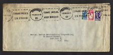 SOUTH AFRICA, Suid Aifrika 1946 CENSERED MAIL 9 stamped Air Mail envelops DURBAN