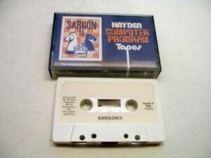 RARE Cassette Version of Sargon II for Apple II, Apple II Plus, 1979