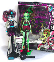 Monster High Doll Set Rochelle & Venus Zombie Shake Complete In Box VGC