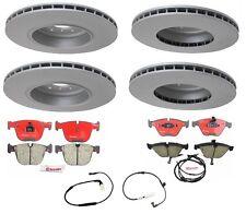 For BMW E60 550i 06-10 4.8L OEM Full Front & Rear Brake Rotors Pads Sensors Kit