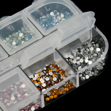 1.5mm Nail Art Crystal Glitters Diamond Tips Decoration for uv gel Systems