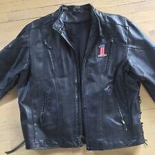Harley Davidson 48 (4XL) Black Leather Motorcycle Jacket