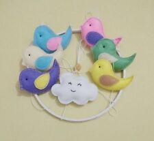 Baby Mobile Cot Crib nursery decor handmade - birds