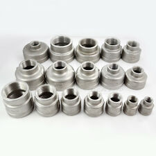 "3/8""x1/4"" Female Nipple Threaded Reducer Pipe Fitting Stainless Steel 304 NPT"
