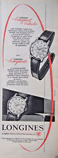 PUBLICITÉ 1958 MONTRES LONGINES CONQUEST CALENDAR - ADVERTISING
