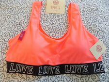 SO Melon Color Sports Bra ~ Padded ~ Size XL ~ New