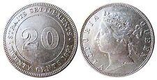 STRAIT SETTLEMENTS  KM 12   20 Cents 1891 in VZ-STG  1502189